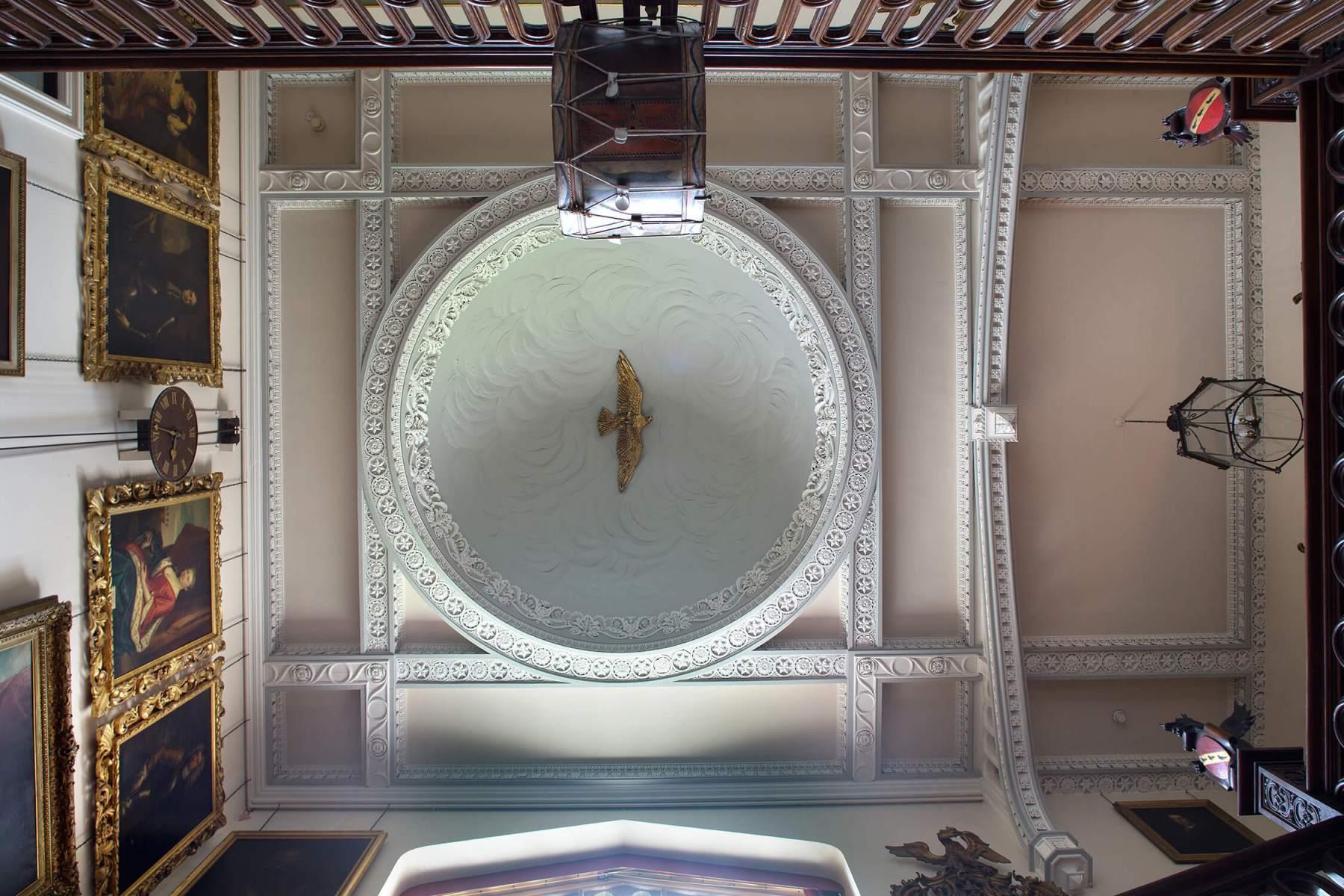 Interior Kilruddery-ornate-ceiling